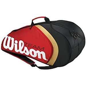 Wilson BLX Team II Federer Six Sac tennis Rouge