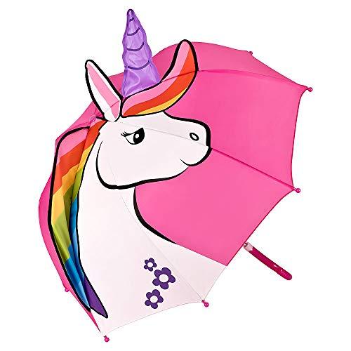 VON LILIENFELD® Paraguas Motivos Infantil Decoración Niños Niñas (hasta 8 años) Unicornio
