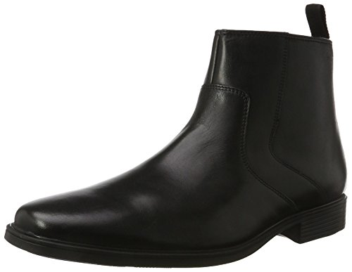 Clarks Herren Tilden Zip Chelsea Boots, Schwarz (Black Leather), 43 EU