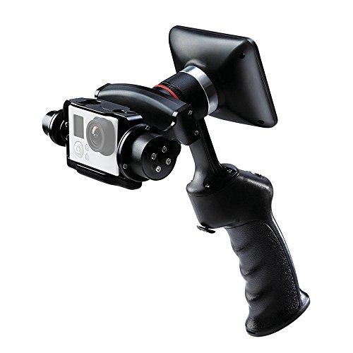 Docooler GP1 + Stabilizzatore Giunto Cardanico Handheld Adventure Fotocamera Stabilizzatore Digitale con 270 ° Ruotabile da 3,5in LCD Monitor Incorporato per GoPro Hero Action Cameras