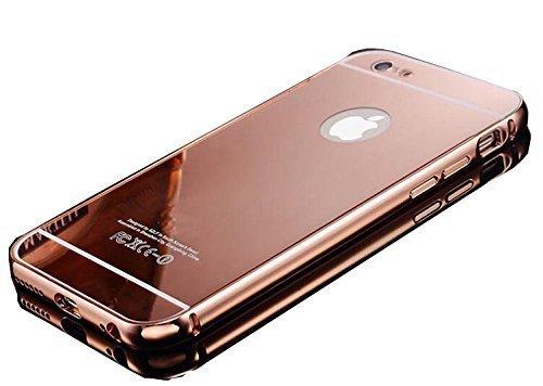 CORST® Case Cover PC Specchio, Custodia protettiva per iPhone 6Plus/6S Plus 5.5inch(Argento) Rosa