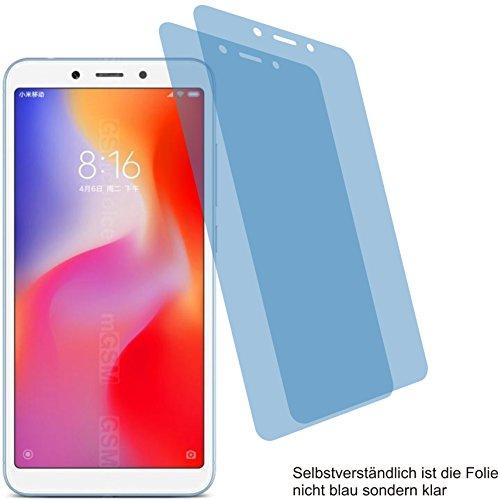 2X ANTIREFLEX matt Schutzfolie für Xiaomi Redmi 6A Bildschirmschutzfolie Displayschutzfolie Schutzhülle Bildschirmschutz Bildschirmfolie Folie