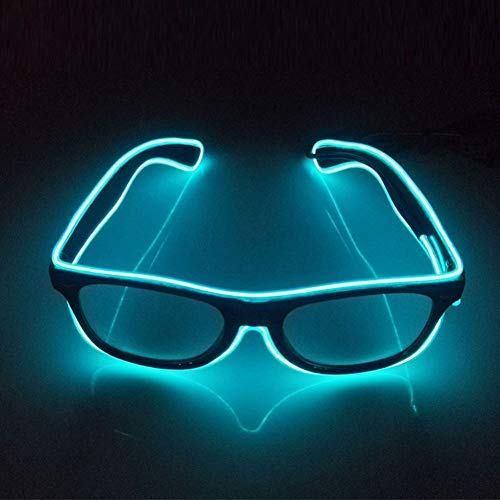 Leuchtend Brille Einstellbar LED Brille beleuchten, Neuheit Party Verkleiden Dekor (Blau)