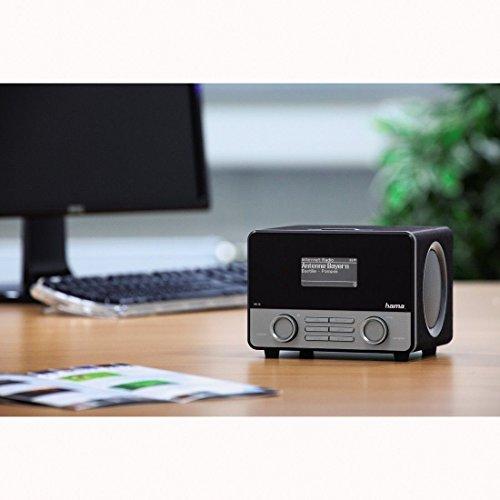 """Hama Internetradio """"IR110M"""" (WLAN/LAN, Fernbedienung, USB-Anschluss mit Lade- und Wiedergabefunktion, Weck- und Wifi-Streamingfunktion, Multiroom, gratis Radio App), schwarz -"""