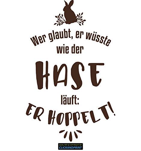 CLICKANDPRINT Aufkleber » Wie der Hase läuft, 180x114,2cm, Braun • Dekoaufkleber / Autoaufkleber / Sticker / Decal / Vinyl