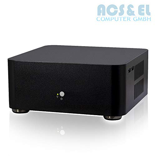 Lüfterlos XERCON Mini PC ITX System Intel 4X 2.30GHz, QuadCore | 4GB DDR3 Speicher 1600MHz | 500GB S-ATA Festplatte | Intel HD Graphics | DVD-Brenner | Windows 10-30 Tage Testversion [98705_OHNE]