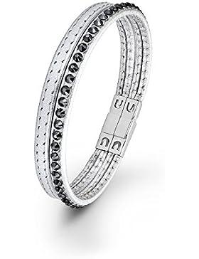 s.Oliver Damen-Armband Swarovski Elements Edelstahl Kristall grau 18.5 cm - 567930