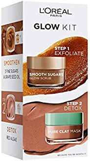 L'Oreal Paris Smooth Sugar Grapeseed Oil & Clay Mask -