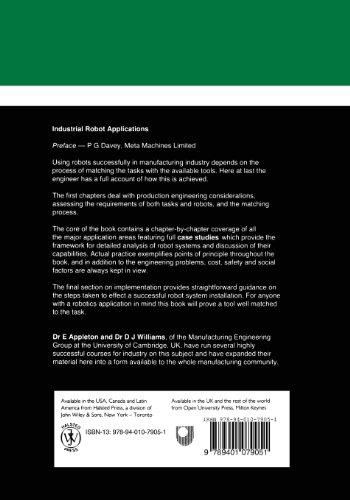 Industrial Robot Applications (Open University Press Robotics Series)