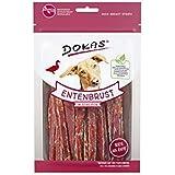 DOKAS - Snack di ottima qualità senza cereali, a strisce, per cani, con filetto di anatra