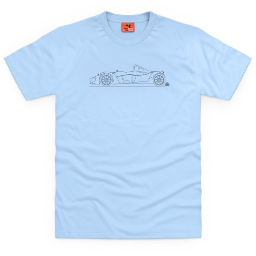 PistonHeads BAC Mono T-shirt, Uomo Celeste