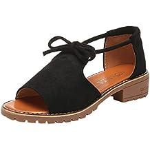 3102513eeaeae0 Sandales pour Femmes, GreatestPAK Bandage Wedge Espadrilles été Chunky  Vacances Chaussures