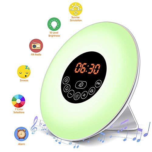 Alarm Clock Wake Up Light LED Night Light 6 Natural