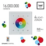 LEAD energy Funk Lichtschalter | Glas Touch Lichtschalter | App WCC RGB W | LED Lichtschalter | Funk Aufputz | Funk Set für Dynamic Control Produkte
