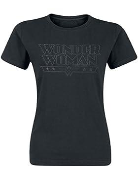 Wonder Woman Black Logo Maglia donna nero