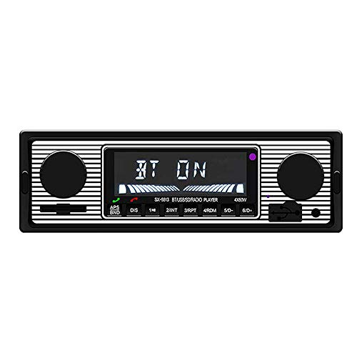 HM2 12V Bluetooth Autoradio, Autoradio FM MP3-Player, USB SD AUX Audio Auto-Elektronik-Radio unterstützt Freisprechanrufe - Weiß