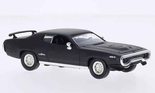 Preisvergleich Produktbild Plymouth GTX, matt-schwarz, 1971, Modellauto, Fertigmodell, Lucky Die Cast 1:43