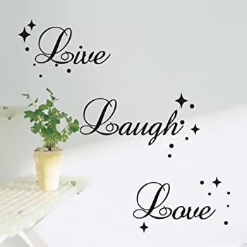 Fancy Writing Live Laugh Love Quote Wall Art Vinyl Sticker Decal  Fashionable Decoration ( Part 62