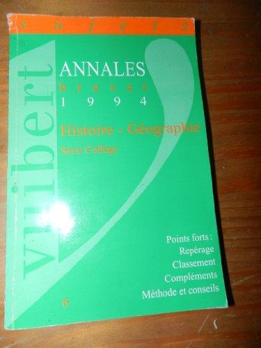 Annales brevet 1994 / sujets / histoire - geographie education civique