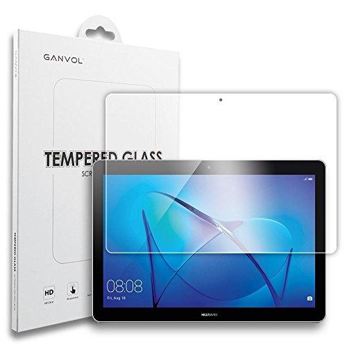 """Ganvol Film écran en Verre Trempé pour Huawei MediaPad T3 10, Protection d'écran Huawei MediaPad T3 10 WiFi & LTE Tablette Tactile 9,6"""", Facile à Poser, Bonne qualité"""