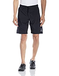 Reebok Mens Synthetic Shorts (4057283617445_AF2032_X-Small_Black)