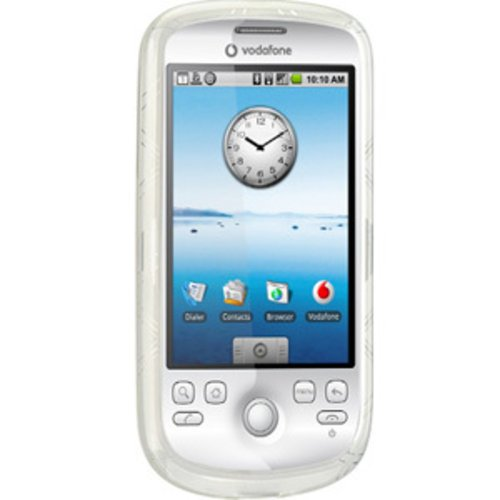 Amzer Luxe Schutzhülle für T-Mobile myTouch 3G / HTC Magic, transparent mit Argyle-Muster 3g Htc Magic
