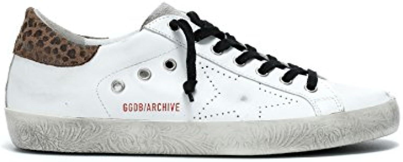 Golden Goose Unisex GARMS590F1 Weiss Leder Sneakers