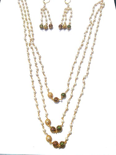 Pearls Grand Moti Rani haar Necklace Set For Women - girals Many...