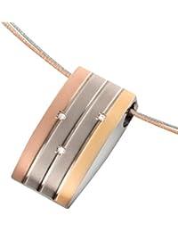Boccia Damen-Anhänger Titan teilvergoldet Diamant (0.015 ct) transparent Brillantschliff - 0792-02