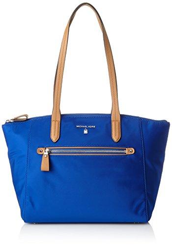 Michael Kors Nylon Kelsey, Bolso Totes para Mujer, Azul (Electric Blue), 7.9x25.70x37 cm (W x H x L)