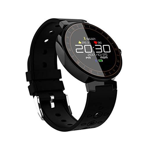 SXFYMWY Intelligente Bracciale in Acciaio Inox Tasso di frequenza cardiaca monitoraggio della Pressione sanguigna Impermeabile Fitness Activity Tracker,Black,120x41x90cm