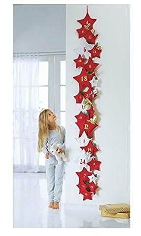 SSITG XXL Adventskalender Sterne zum selbst Befüllen Advent Kalender
