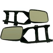 10T Outdoor Equipment - Juego de espejos retrovisores para caravanas (2 piezas), color negro