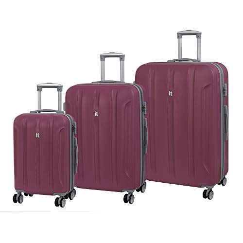it luggage 3-teiliges Set Proteus 8 Rollen Hardshell Single Expander Koffer mit TSA-Schloss Koffer 80 cm, Malaga (Pink) - 16-2175-08GLO3N-S829