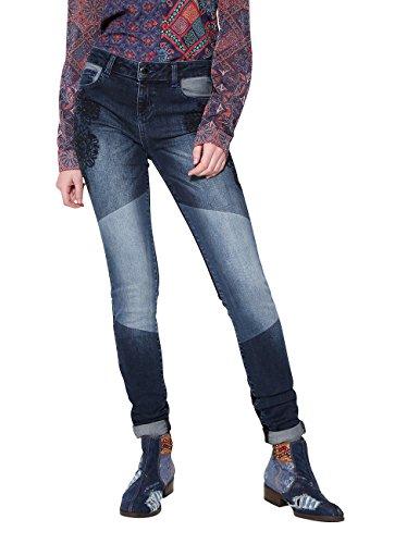 Desigual Blake Pantalones Vaqueros Delgados, Azul (Denim Patch 5183), W29 para Mujer
