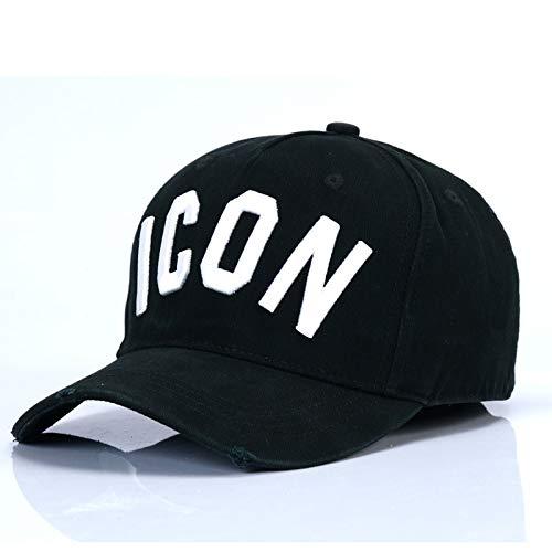 SUNNYBQM Sonnenhut Casquette Hats Solid Pattern Hats Buchstaben Icon Casquette Dad Hip Hop Baseballmütze Snapback Cap Für Mann Frau