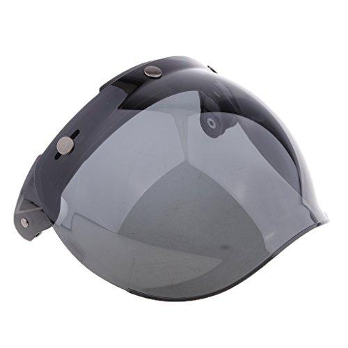 Baoblaze Visera para Cascos con 3 Broches Protección de Viento para Motocicleta...