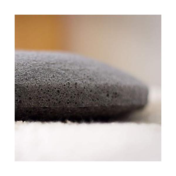Esponja Konjac Zephyr® para la cara con carbón activo de Bambú – Biodegradable – Origen Corea del Sur