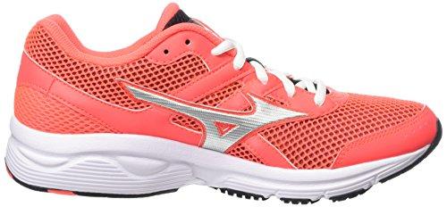 Mizuno Spark, Scarpe da Corsa Donna Rosa (Pink (Fiery Coral/Silver/Black))