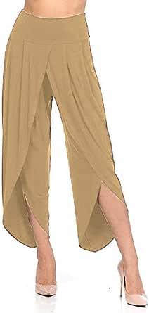 keepmore Donna Pantaloni Gamba Larga, Comodi Loose Fit Svasato Pantaloni Eleganti Elastici in Vita Casual Pantaloni Taglie Forti