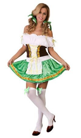 Guirca costume tradizionale da cameriera tirolese per adulti, 40-44 80709