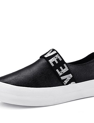 ZQ gyht Scarpe Donna-Mocassini-Casual-Comoda-Piatto-PU-Nero / Bianco , white-us8.5 / eu39 / uk6.5 / cn40 , white-us8.5 / eu39 / uk6.5 / cn40 black-us8 / eu39 / uk6 / cn39