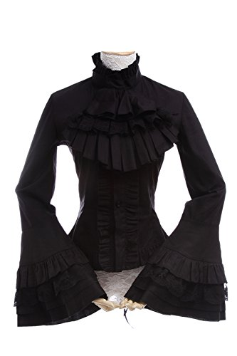 nuoqir-femmes-manches-longues-gothique-chemisier-top-cosplay-costume-noir-taille-francaise-42-gc173a
