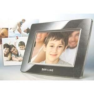 """Samsung SPF-105P Cadre photo numérique 10"""" Résolution 1024x600 500:1 1 Go de mémoire interne lecteur SD/MMC/MS/xD MP3 Noir"""