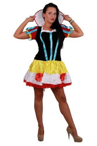 Schneewittchen Königin Fantasie Funkenmariechen märchenhaftes Minikleid Karneval Fasching 38 - 40, Kleidergr. Damen:XXXL = 38-40