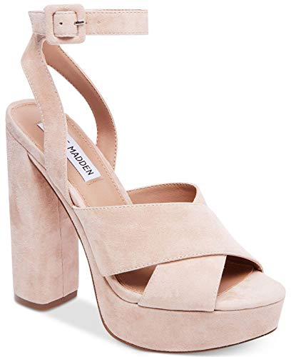 Steve Madden Womens Jodi Open Toe Ankle Strap Classic Pumps Pink Toe Pumps