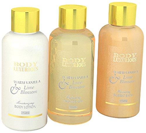 Gloss! Boîte de Bain Body Luxurious Vanille et Tilleul 4 Pièces