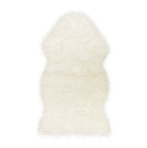 faux sheepskin fur rugcozy feeling like real wool white