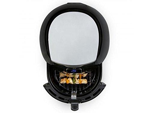 Domo Deli Fryer Xxl Nur Freistehend Hot Air Fryer Fritteuse 55l Schwarz Silber Hot Air Fryer 55 L 15 Kg 80 C 200 C 30 Min