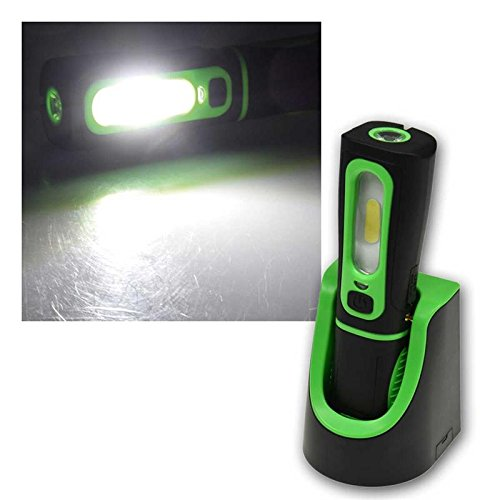 "LED Stableuchte mit Akku \""FlexiLED 300+\"", Ladeschale, Magnethalter, 3W, 250lm,IP44"